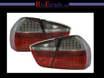 LED Baklysen BMW E90 / röd-svart