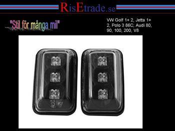 LED Sidoblinkers Audi 80, 90, 100, 200  krom