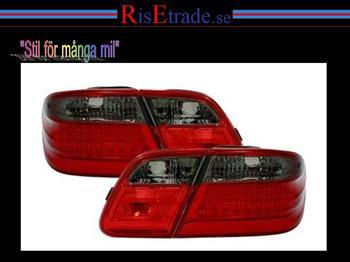 LED Baklampor Mercedes W210 sedan / Röd-svart.