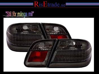 Baklampor Mercedes W210 / Svarta LED