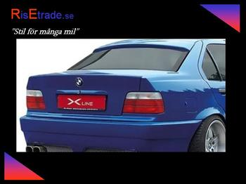 Bakrutespoiler till 3er BMW E46 4d sedan