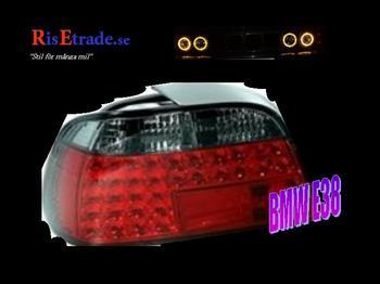 Röda LED baklampor till 7er BMW E38