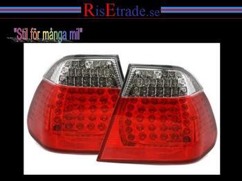 LED Baklampor till 3er BMW E46 4d sedan i rött och vitt.