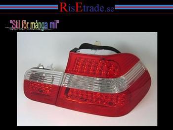 LED Baklampor till  BMW 3er E46 4d sedan i rött och vitt.