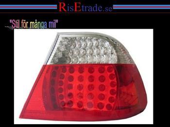 LED baklampor till BMW E46 Coupe -8/01 rödvita.