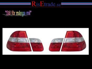 Rödvita baklampor till BMW E46 4d sedan.