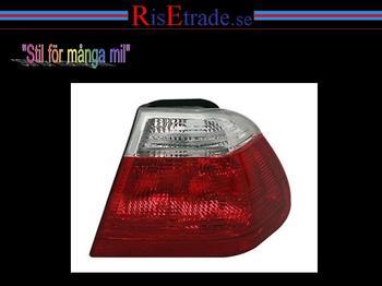 Höger baklampa till  BMW E46 98-01 4d sedan i rött & vitt.