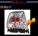 LED baklampor i krom till Audi A4 B5 sedan