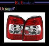 Rödvita LED baklampor till Audi A4 B5 avant