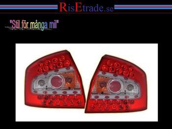 LED baklampor i rött till Audi A4 8E sedan