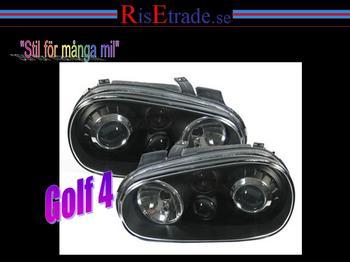 Svarta strålkastare i R32 stil till VW Golf 4.