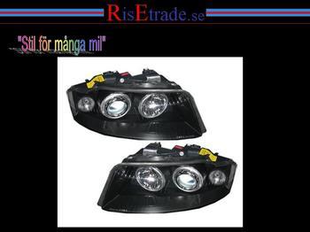 Angel Eyes i svart för Audi A4 8E