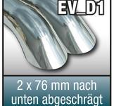 """SuperSport avgasr""""r variant """"D1"""" 2x76mm rund,  """"Diesel look"""""""