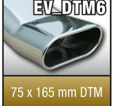 "SuperSport Tips variant DTM6 ""75x165mm DTM, platt oval, kantad Kant"