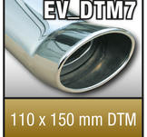 """SuperSport Tips variant DTM7 """"110x150mm DTM, oval, kantad Kant"""