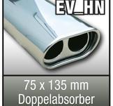 """SuperSport Tips variant HN 75x135mm flat oval, dubbel absorbatorn, fl""""nsade rim"""