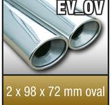 "SuperSport avgasr""r variant ""OV"" 2x98x72mm oval kantad Kant"