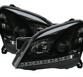 Strålkastare m. Lysdioder för Opel Astra H svart