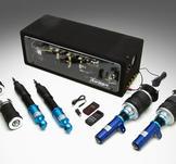 AirRex. Luftfjädringssystem.911.993.93~98.Främre fjäderben inkluderar topplagring.Bakfjädring inkluderar topplagring.Noterade priser är för 2 främre luft fjäderben och 2 bakre stöttor luft (eller luftfjäder + dämpare), ej kompressor
