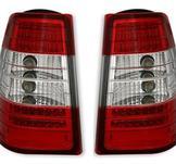 Mercedes W124 LED baklykta W / Red-White