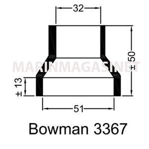 Bowman Gummihylsa 3367