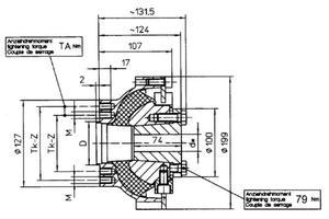 Centaflex - flexibel koppling till 30-40 mm axel
