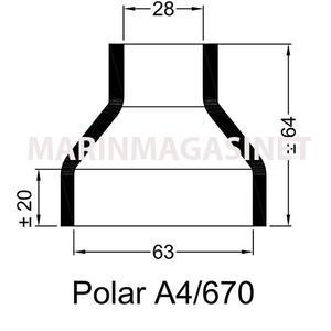 Polar Gummihylsa A4 670