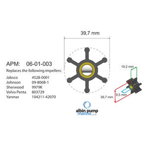 Premium Impeller kit PN 06-01-003