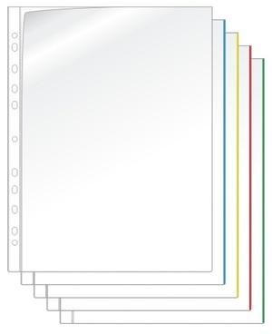 Ficka mapp A4 PP transp. 0,17 utan färgad kant