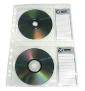 Ficka 4-fack CD A4 PP präglad tissue inkl. etikett. 5-pack