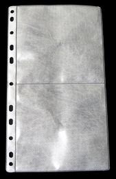 [Utgående] Ficka 2+2-fack CD 148x265 PP transp. / tissue. 5-pack