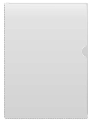Mapp akt A4 PVC glas 0,18