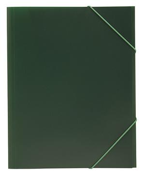 Mapp G-snodd monterade A4 PP grön bred 0,45
