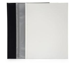 Displaymapp A4 0,35 frost pp med 10 st insvetsade fickor(öppen kort+1/3 långsida)