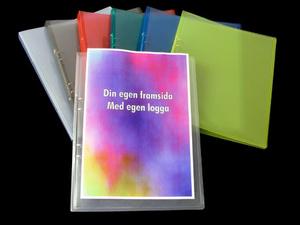 [Utgående] Pärm A4 PP gul cristaline 20 mm rygg med ficka och 16 mm triomek visitkortssnitt på sida 2