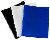 [Utgående] Pärm A4 PP 0,45 vit 20 mm rygg med ficka och 16 mm triomek visitkortssnitt på sida 2
