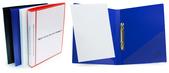 Pärm A4 0,8 vit pp, 25 mm rygg med ficka framsida + rygg, 20 mm triomek, snedficka på sida 2 & 3
