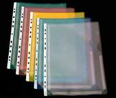 Bälg ficka nedskuren A4 PP präglad blå. 50-pack