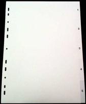 Register A4 PP vita 1-5 svart pag. Levereras individuellt packade i påse inkl. försättsblad i papp