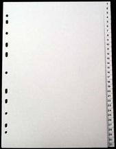 Register A4 PP vita 1-31 svart pag. Levereras individuellt packade i påse inkl. försättsblad i papp
