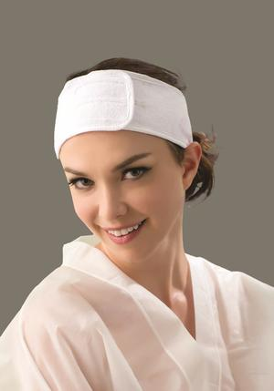 Hårband kosmetik kardborre 8 cm bred