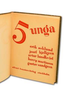 Fem unga. Unglitterär antologi.