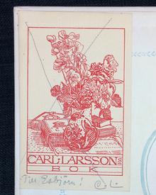(Gåva av Carl Larsson) - Selma Lagerlöf: En herrgårdssägen. [...] Med bilder av Einar Nerman.