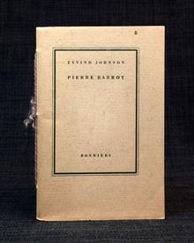 Johnson, Eyvind: Pierre Barrot. Ur en kommande roman.