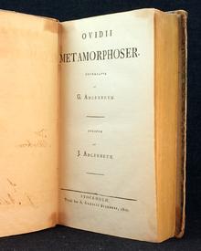 Ovidius: Metamorphoser. Öfversatte af G. Adlerbeth. Utgifne af J. Adlerbeth.