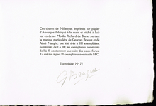 Braque, Georges (1882-1963): Milarepa. […] Traduction de Jacques Bacot. Eaux-fortes de Georges Braque.