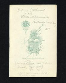 (Osslund, Helmer) (1866-1938): Helmer Osslund med studentkamrater.