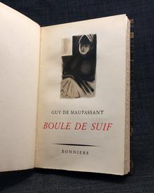 Maupassant, Guy de: Boule de Suif. En novell. Illustrerad av Adolf Hallman.