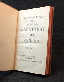 Georgii, Nicolaus (Nils): Något med swaga färgor, eller, Uti prosa skrefne målningar och fabler.