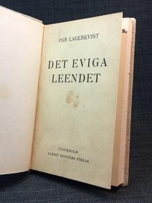 Lagerkvist, Pär: Det eviga leendet.